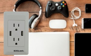 EZQuest Wall Socket USB Charger