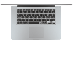 Italian keyboard cover for Apple Mac and MacBook by EZQuest
