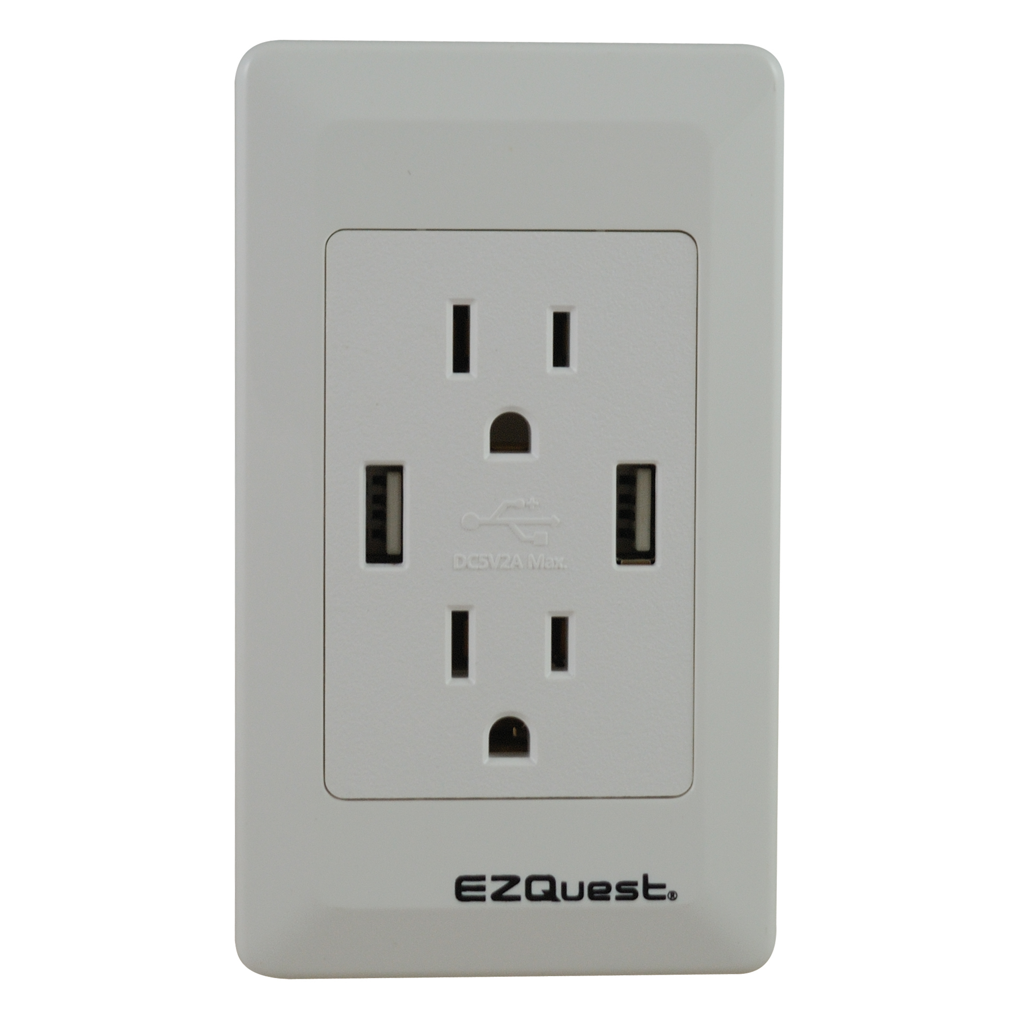 EZQuest Plug n\' Charge USB Wall Outlet Charger