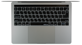 Hebrew keyboard cover for 2016 MacBook with Touch Bar
