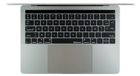 français Couverture clavier; EZQuest MacBook Pro Touch Bar French keyboard cover