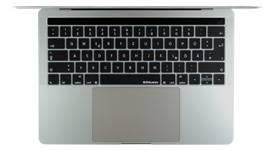 German keyboard cover for 2016 MacBook with Touch Bar