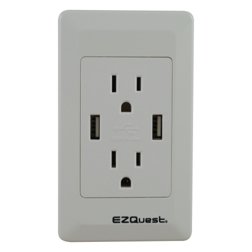 EZQuest Plug n' Charge USB Wall Outlet Charger