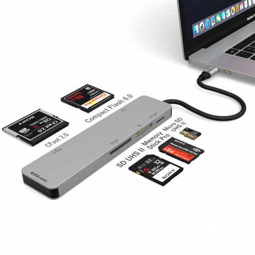 USB-C CFast 2.0 Card Reader 5 Ports with UHS II SD/Micro SD