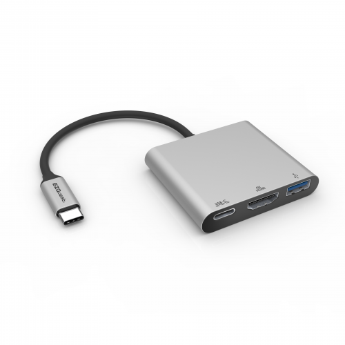 USB-C Multimedia Charging Adapter 3 Ports with PD 3.0 and BC1.2