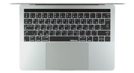 Arabic keyboard cover for Mac touch bar