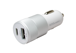 EZQuest USB-C USB dual car charger for cigarette lighter socket.
