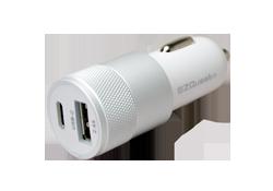 EZQuest USB-C USB dual car charger for cigarette lighter socket.